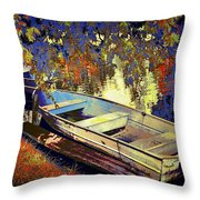 Boat Number 12 Throw Pillow