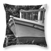 Boat Out Of The Water Throw Pillow
