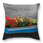 Boat Parade Throw Pillow
