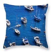 Boat Parking Throw Pillow