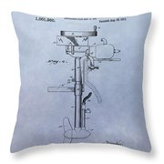 Boat Propeller Patent Drawing 1911 Throw Pillow