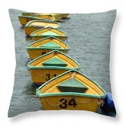 Dingy Boat Rentals Throw Pillow