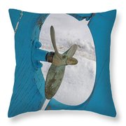 Boat Rudder Throw Pillow