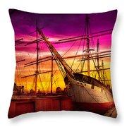 Boat - Sailing - Fleet Week Throw Pillow by Mike Savad