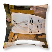 Boat Shed 6 Throw Pillow