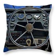 Boat Steering Wheel Throw Pillow