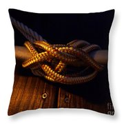 Boat Tie Throw Pillow