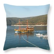 Boat Trip Throw Pillow