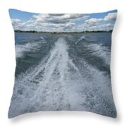 Boat Wake 02 Throw Pillow