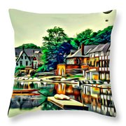 Boathouse Color Throw Pillow