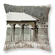 Boathouse Pavilion Throw Pillow