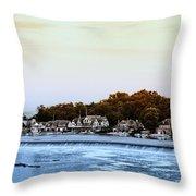Boathouse Row And Farmount Dam Throw Pillow