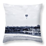 Boathouse Row And The Zoo Balloon Throw Pillow