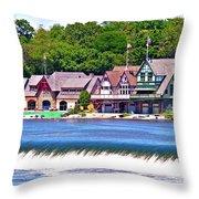 Boathouse Row - Hdr Throw Pillow
