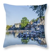 Boathouse Row In September Throw Pillow