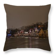 Boathouse Row In The Evening Throw Pillow