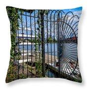 Boathouse Row Throw Pillow