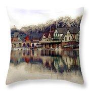 Boathouse Row Philadelphia Throw Pillow