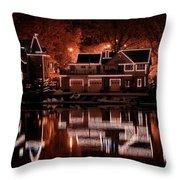 Boathouse Row Reflection Throw Pillow