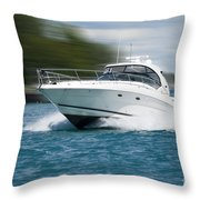 Boating 01 Throw Pillow