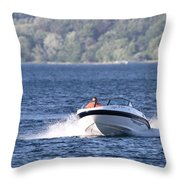 Boating On Grand Traverse Bay Throw Pillow