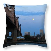 Boating Stream Throw Pillow