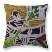 Boatman On The River  Throw Pillow
