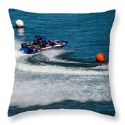 Boatnik Races 1 Throw Pillow