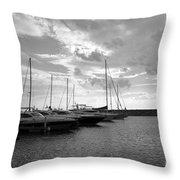 Boats 4 Throw Pillow