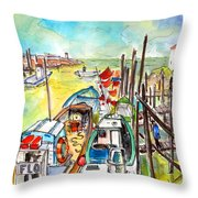 Boats And Boardwalks By Brittany 02 Throw Pillow