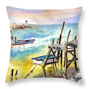 Boats And Boardwalks By Brittany 01 Throw Pillow