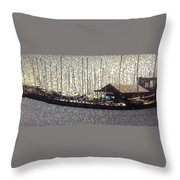 Boats And Bubbles 2 Throw Pillow