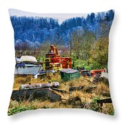 Boats And Heavy Equipment Throw Pillow