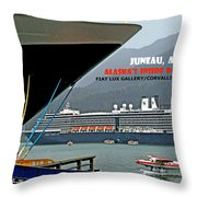Boats And Plane Throw Pillow