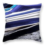 Boats And Reflections Throw Pillow