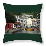 Boats And Telephones Throw Pillow