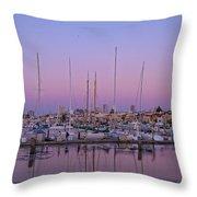 Boats At Dusk 1 Throw Pillow