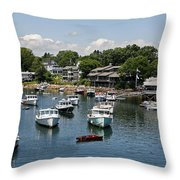Boats At Rest Throw Pillow