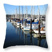 Boats At Rest. Sausalito. California. Throw Pillow