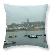 Boats In Irish Sea Throw Pillow