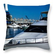Boats In Port 2 Throw Pillow