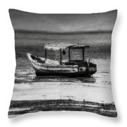 Boats Of Trinidad Throw Pillow