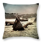 Boats On The Bay Throw Pillow by Marco Oliveira