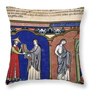 Boaz Sends Ruth Away With Six Measures Throw Pillow