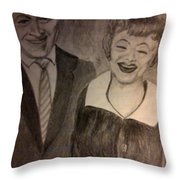 Bob And Lucy Throw Pillow