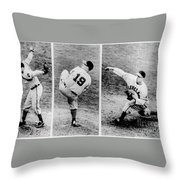 Bob Feller Pitching Throw Pillow