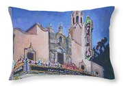 Bob Hope Theatre Throw Pillow by Vanessa Hadady BFA MA