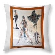 Bob Mackie Design Throw Pillow