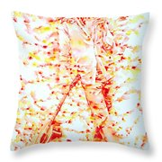 Bob Marley And Guitar - Watercolor Portrait Throw Pillow