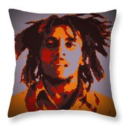 Bob Marley Lego Pop Art Digital Painting Throw Pillow